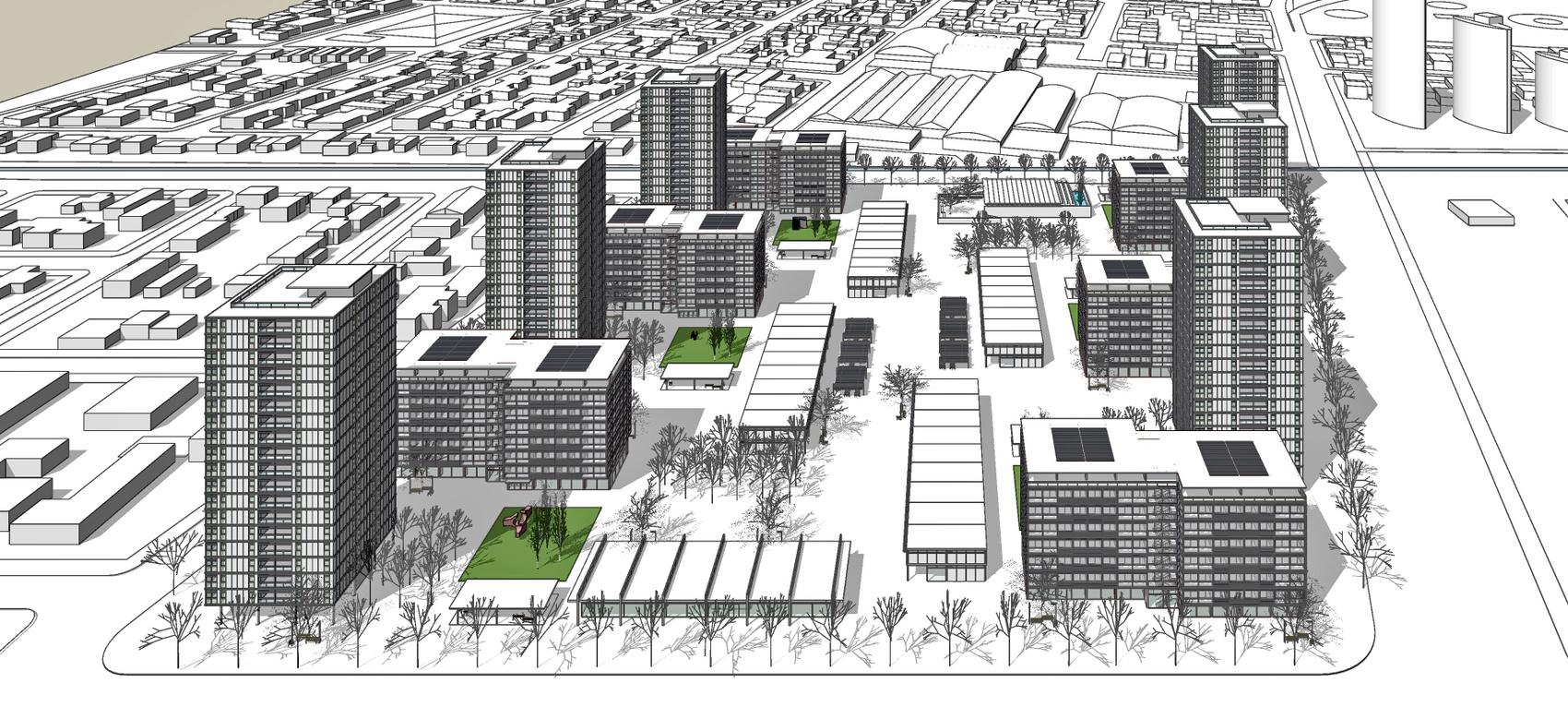 Ordenación de un polígono urbano